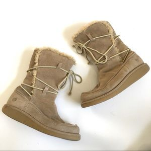 Earth Shoe Miami Suede Lace Up Boots Size 8.5